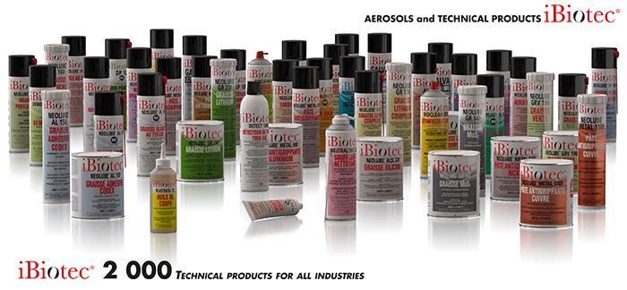 Solvent aerosol Degreasing aerosol Cleaning aerosol Stripper aerosol Lubricant aerosol Technical grease aerosol Cutting oil aerosol Cutting fluid aerosol Disinfectant aerosol Galvanising aerosol Release agent aerosol Silicone lubricant aerosol Welding anti-adherent aerosol Penetrating fluid aerosol Mounting paste aerosol Anti-corrosion aerosol, solvents